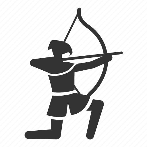 archer, archery, arrow, bowman, infantry, medieval, shoot icon