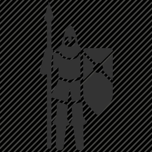 guard, infantry, medieval, outpost, safeguard, spearman, torpedo icon