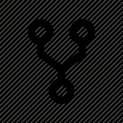 fork, open, separate, split icon