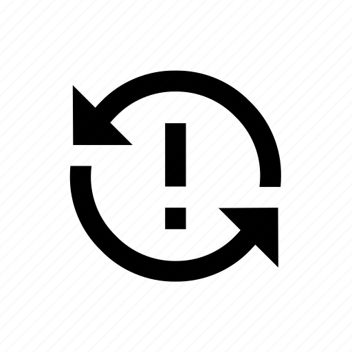 around, issue, reopened, return, sync icon