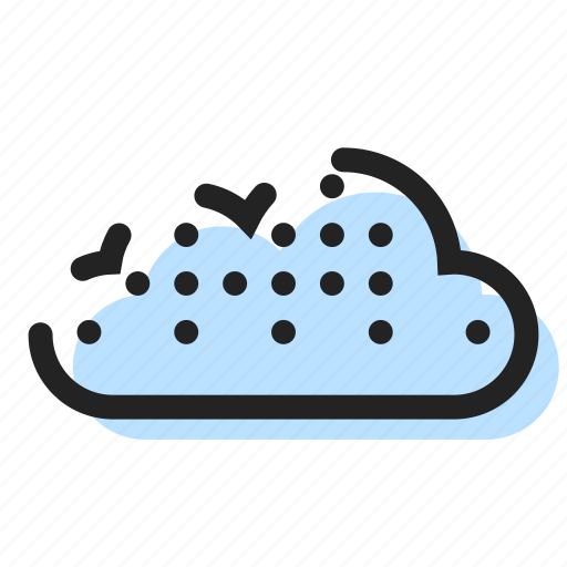 cloud, storage, weather icon