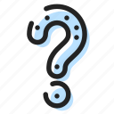ask, faq, help, mark, question, solution icon