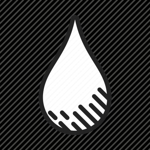 drip, drop, droplet, liquid, oil, water icon