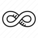 infinite, infinity, loop icon