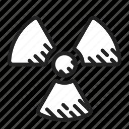 nuclear, radiation, radioactive icon