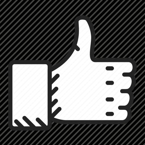 finger, like, thumb icon