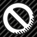no, prohibition, warning icon