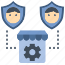 customer, protection, shop, security, service, privacy icon