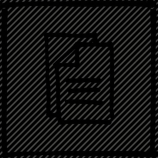 copy, crop, document, file, paste, scribbler, sheet icon