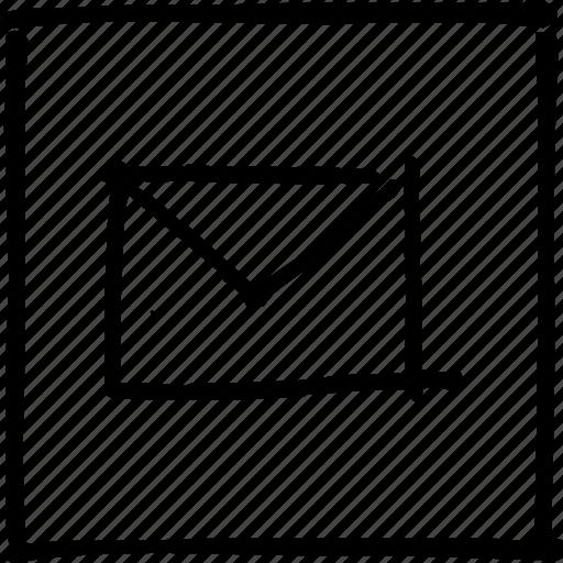 communication, email, letter, mail, post, postal, scribbler icon