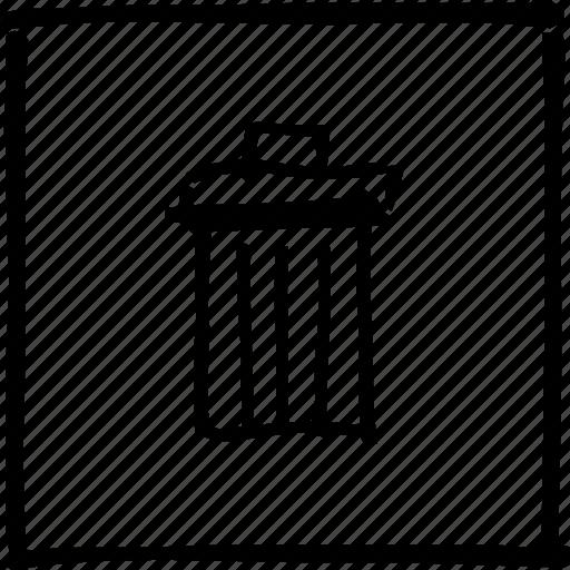 basket, destroy, junk, scribbler, throw, trash, wastepaper icon