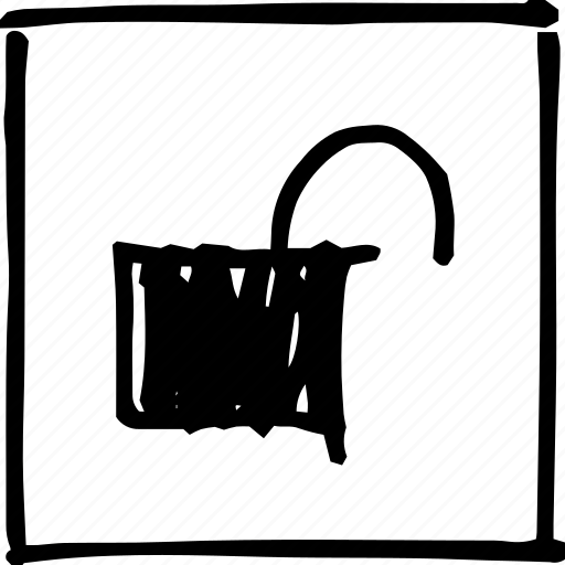 padlock, password, safety, scribbler, security, unlock, unlocked icon