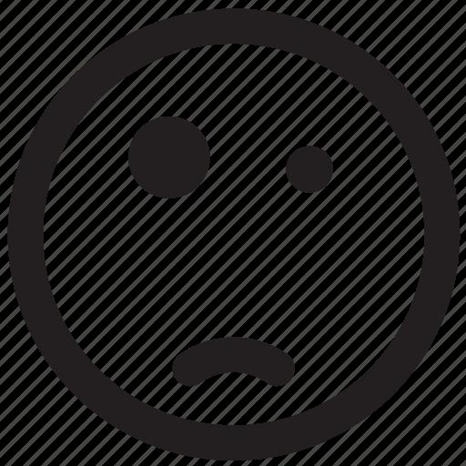 emoticon, outlines, shocked, surprised, wtf icon