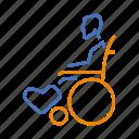 broken, disabled, leg, temporary, wheelchair