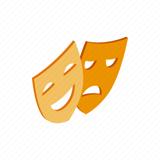 art, comedy, face, isometric, mask, performance, theater icon