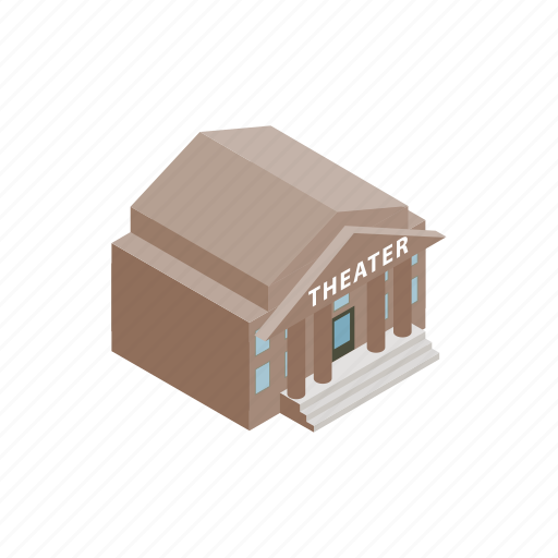 architecture, building, culture, house, isometric, landmark, theater icon