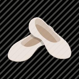 art, ballet, dance, foot, footwear, isometric, shoe icon
