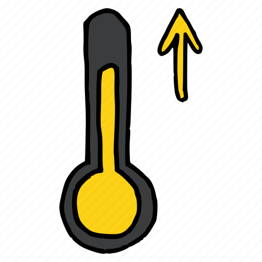 forecast, increase, rise, temperature, thermometer, weather icon