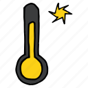 forecast, storm, sunny, temperature, thermometer, weather, wind icon