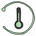 forecast, reading, refresh, reload, temperature, thermometer, weather icon