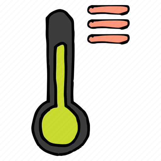 forecast, list, menu, options, temperature, thermometer, weather icon