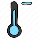 cold, decrease, forecast, minus, temperature, thermometer, weather icon