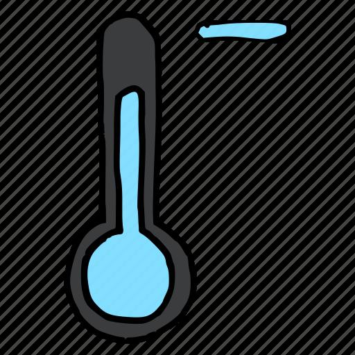 cold, decrease, forecast, minus, temperature, thermometer, weather icon