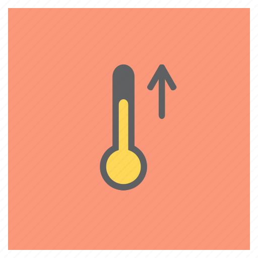 arrow, forecast, increase, rise, temperature, thermometer, weather icon