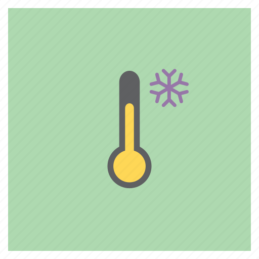 cold, forecast, snow, temperature, thermometer, weather icon