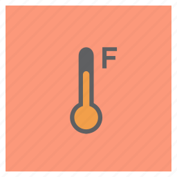 fahrenheit, forecast, temperature, thermometer, weather icon