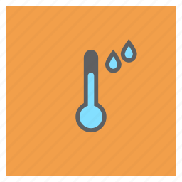 drops, forecast, rainfall, rainy, temperature, thermometer, weather icon