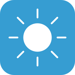 clear, sun, sunny, weather icon