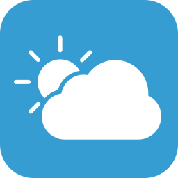 cloudy, partly, partlycloudy, weather icon