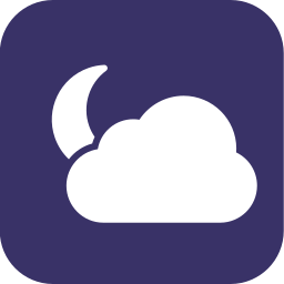 cloudy, night, partly, partlycloudy, weather icon