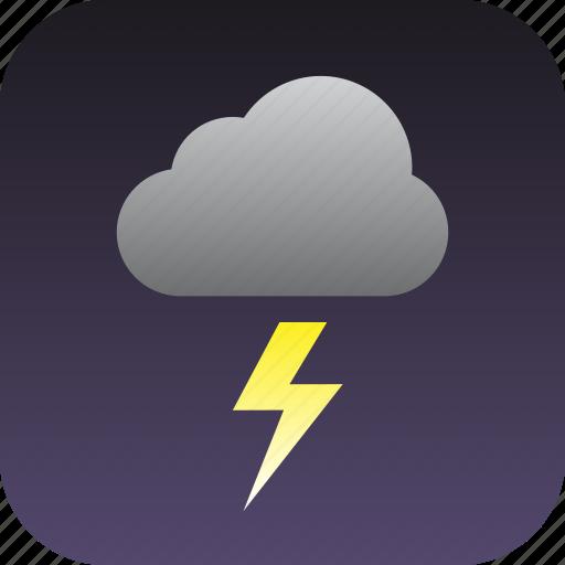 storm, thunder, thunderstrom icon