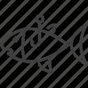 fish, fish icon, fishing, food, hook, marine, seafood icon