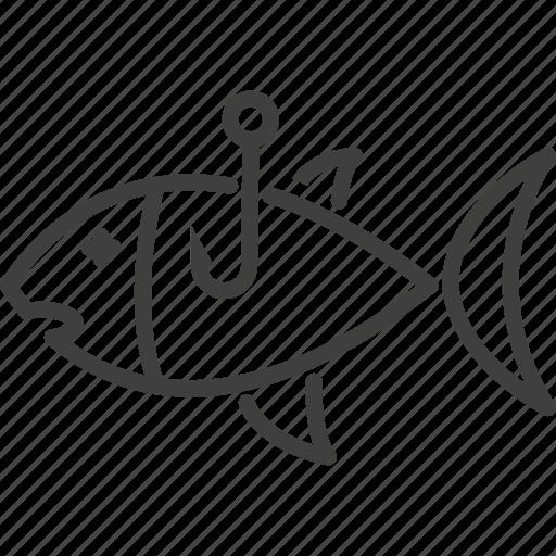 fish, fish icon, fishing, food, hook, marine, seafood icon icon