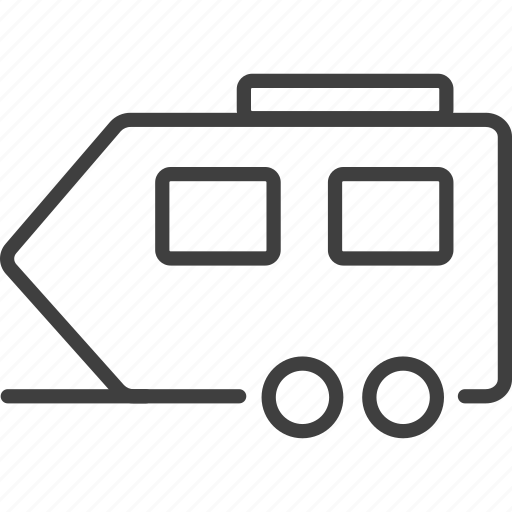 camping, outdoors, parking, trailer, trailer icon, transport, truck icon icon
