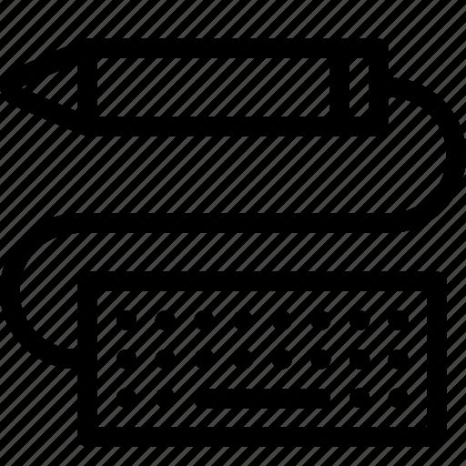 design, keyboard, pencil, ruler icon