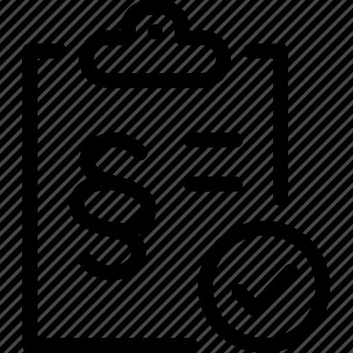 checklist, compliant, gdpr icon
