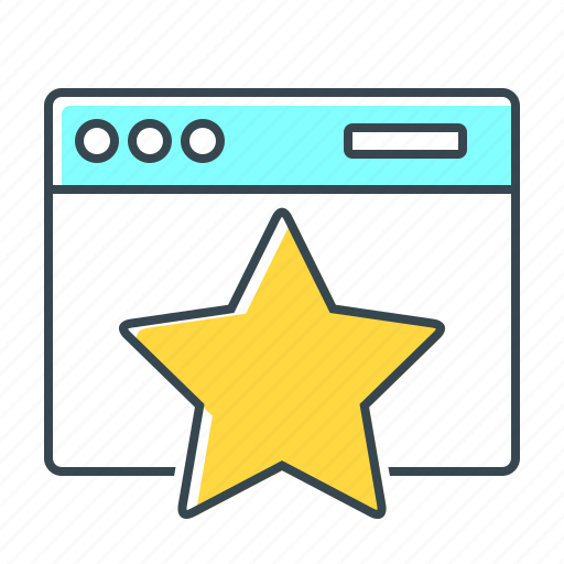 favorite, favourite, internet, star, webpage, website icon