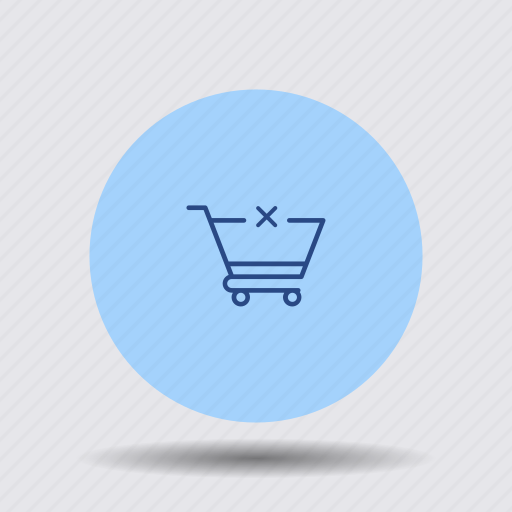 cancel, cart, delete, order, remove, shopping, trolley icon