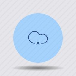 blocked, cancel, cloud, computing, cross, data, remove icon
