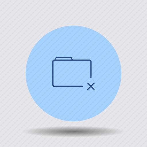 cancel, close, cross, delete, file, folder, remove icon
