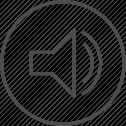 multimedia, music, play, player, sound, speaker, volume icon