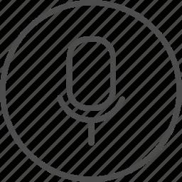 microphone, record, speak, speech, vocal icon