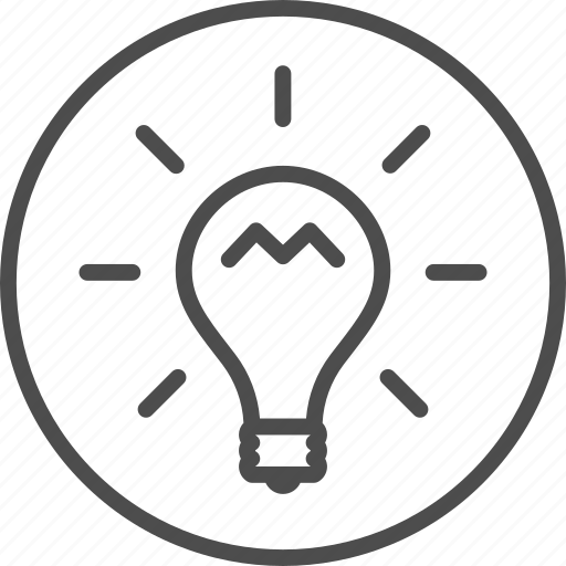 idea, imagination, lamp icon