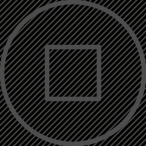 audio, control, media, music, player, sound, stop icon