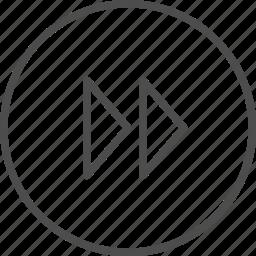fast, forward, next icon