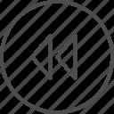 reverse, rewind icon